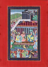 Indo Persian Style Miniature Painting Handmade Ethnic Islamic Watercolor Art
