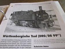 Neben - Schmalspurbahnen 15 Triebfahrzeuge Württemberg Tssd DRG DB 99.61
