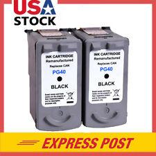 2 Black PG-40 PG 40 Inkjet Ink Cartridge for Canon PIXMA IP6210D MP140 MP150
