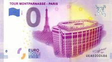 75015 Tour Montparnasse, N° de la 5ème liasse, 2020, Billet Euro Souvenir