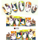Nail Art Water Decals Manicure Transfer Stickers Cute Cat Pattern Decor Tips DIY