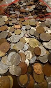 10 LB Lot of Circulated & Uncirculated Foreign Coins FREE SHIP!! KIDS LOVE UM!!