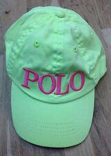 Ralph Lauren Girls' Polo Baseball Hat, Lemon Cruise, One Size 2T-4T
