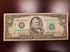 1985 ~ New York $50 Dollar Bill Note FRN ~ B80900618A