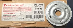 """Firestone Fastener Insulation Plate 3""""  500 COUNT W56RAC4503 Roofing Rubber"""
