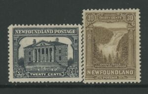 CANADIAN PROVINCES, N.F., MINT, #157,159, OG LH/HR, CLEAN, SOUND & CENTERED