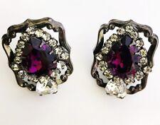 Lawrence VRBA  Rhinestone Crystal Earrings