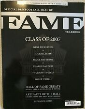2007 - Official Pro Football Hall of Fame Yearbook Special Commemorative Ed. NFL