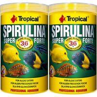 2 x 1000 ml Tropical Spirulina Super forte 36 % Flocken