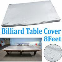 8ft Heavy Duty PVC Cloth Fitted Billiard Pool Table Cover Waterproof Dustproof