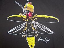 Firefly Joss Whedon Sci-Fi Fan Tv Series Black Graphic Print T Shirt - S