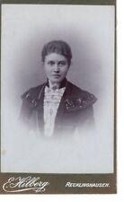 CDV Foto Damenportrait - Recklinghausen 1900er