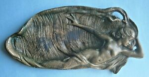 Bronze Desk or Pin Tray with Image of Mermaid from the Early 1900's or Earlier