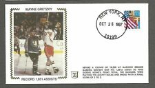 "1997 (Oct 26) Z-Cover ""Record 1851 Assists"" Silk Cachet Wayne Gretzky"