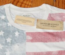 $39.50 New DENIM & SUPPLY T-Shirt Men's MEDIUM M American Flag USA Americana NWT