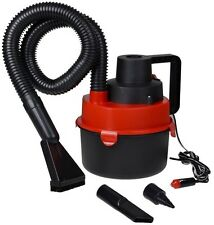 Portable 12V Wet & Dry Canister Car Vacuum Cleaner Hose Inflation Pump DC Plug