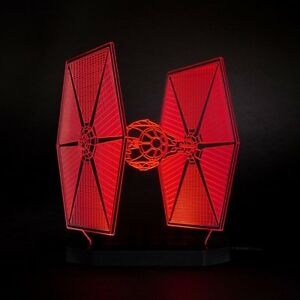 TIE Fighter Table Lamp Star Wars Led Light 3D Illusion X-Wing Bedside Gift kid