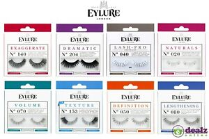 Eylure Reusable False Black Eyelashes Extension Adhesive Eye Lash Style Beauty