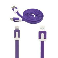 New 1M USB DATA SYNC CABLE LIGHTNING CHARGER FOR APPLE IPHONE X 8 7 6 5 Purple