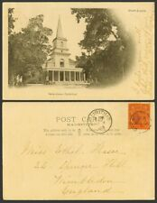 More details for mauritius moka on 6c arms 1903 old postcard port louis st. saint james cathedral