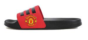 adidas Adilette Shower Manchester United Black Red Men Sandals Slides FW7072