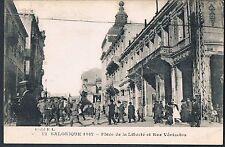 FRENCH POSTCARD Thessaloniki 1917 Place de la Liberte et Rue Venizelos