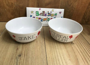 Hand painted Personalised Cereal killer Cereal Bowl, Custom Any Name