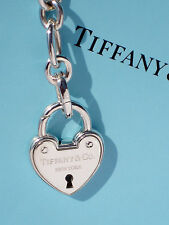 Tiffany & Co ARC Heart Sterling Silver Lock Medium Padlock Charm ONLY