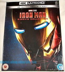 IRON MAN TRILOGY New 4K Ultra HD + BLU-RAY 3-Movie Collection UHD 1-3 1 2 3 MCU