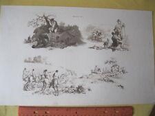 Vintage Print,HUNTING,Pynes Occupations,1805