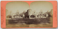 Marsiglia Foto Stereo Neurdein di Carta Albume D'Uovo Vintage Ca 1875