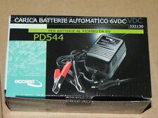 Caricabatterie batterie al piombo 6V AUTOMATICO con led indicatore di carica