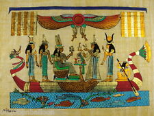 """Original Hand Painted Papyrus 8""""X12"""" (20x30 Cm) Egyptian Pharaoh Queens"""