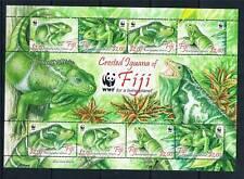 Fiji 2010 WWF Crested Iguana SHEET MNH
