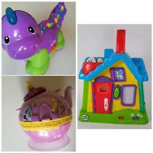 Toys Bundle LeapFrog Discovery House, Alphabet Dinosaur & My Little Pony Teapot