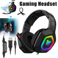 LED Wired Gaming Headset Stereo Audio Headphone for PS4 Xbox one Nintendo Switch