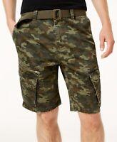 "American Rag Men's Camo Cargo 10"" Shorts Green Size 31W"