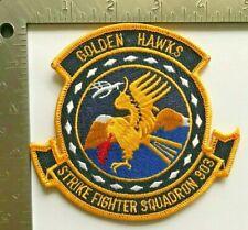US NAVY STRIKE FIGHTER VFA-303 GOLDEN HAWKS PATCH (USN-9)