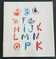 "Pablo Picasso ""Alphabet "" Original Lithograph on Two Sheets  1964"