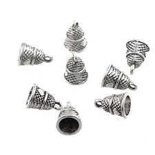 10pcs Buddha Bell Beads Charms Tibetan Silver Alloy Pendant DIY Necklace Making