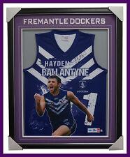 Hayden Ballantyne Signed Fremantle Impact AFL Official Jumper Signed Framed COA