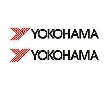 2 x YOKOHAMA Decalcomanie/Adesivi in vinile - 150 mm-lunga vita in vinile