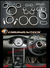 Interior De Cromo Dial Kit Para 2001-2006 Bmw Mini Cooper / s/one R50 R52 R53 26PC.