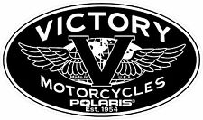 VICTORY MOTORCYCLES USA OVAL DECAL - SET OF 2 - BLACK
