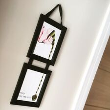 Black Photo Picture Frame Solid Wood Handmade Wall Hanging Ribbon Modern Classic