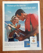1965 Viceroy Cigarette Ad  Surf Fishing Theme