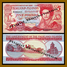 Falkland Islands (Malvinas) 5 pounds, 2005 P-17a Queen Elizabeth II Unc