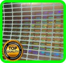 """1050 pcs SMALL Security hologram labels, void warranty stickers .47"""" x .157"""""""