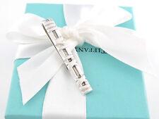 Authentic Tiffany & Co Silver Atlas Roman Numeral Tie Clip Money Clip Box