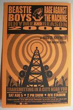 Beastie Boys Rage Against The Machine Concert Flyer Handbill 2000
